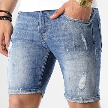 Short Jean Slim 3271 Bleu Denim