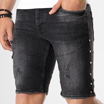 Short Jean Slim 1099 Noir