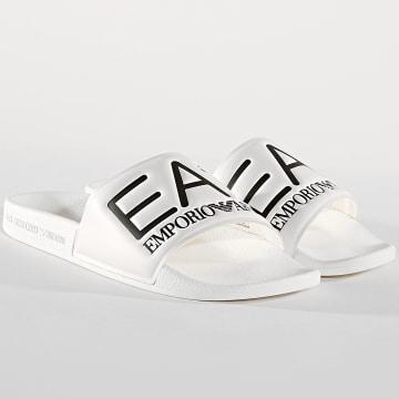 EA7 - Claquettes Slipper Visibility XCP001-XCC22 Blanc Noir