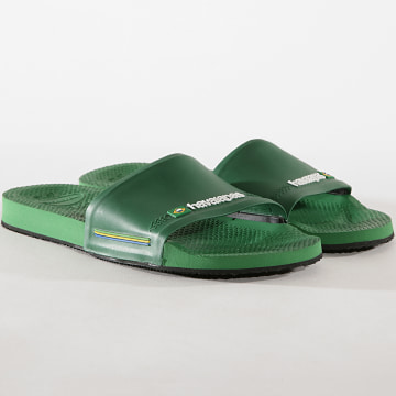 Havaianas - Claquettes Slide Brasil 4142616 Vert