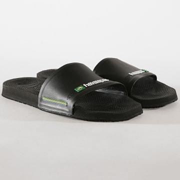Havaianas - Claquettes Slide Brasil 4142616 Noir