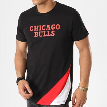 Tee Shirt NBA Colour Block Chicago Bulls Noir Rouge Blanc