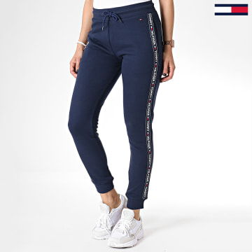 Pantalon Jogging Femme Avec Bandes 0564 Bleu Marine
