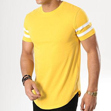 Tee Shirt Oversize Avec Bandes Blanches 720 Jaune