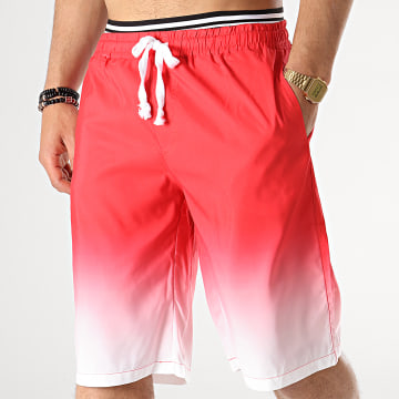 Short De Bain 2P007 Rouge Dégradé