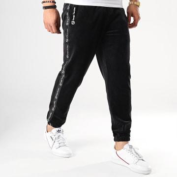 Pantalon Jogging A Bandes Original 37862 Noir Velours