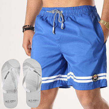 Lot Short De Bain et Tongs Jafari Bleu Roi