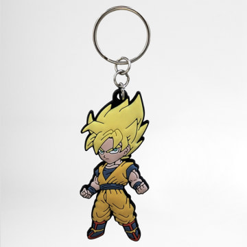 Porte Clé Goku Orange Jaune