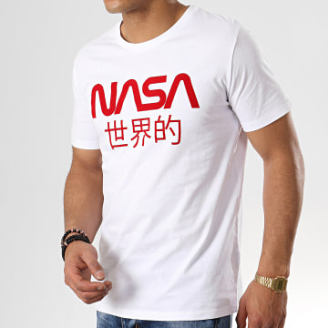 NASA - Tee Shirt Japan Blanc Rouge