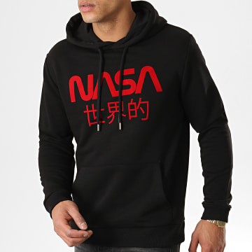 Sweat Capuche Japan Noir Rouge