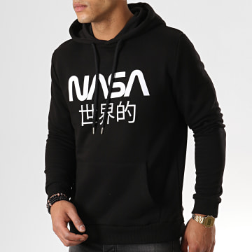 NASA - Sweat Capuche Japan Noir Blanc