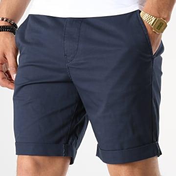 Selected - Short Chino Straight Paris Bleu Marine