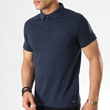 Paname Brothers - Polo Manches Courtes Pastel Bleu Marine