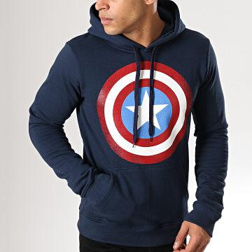 Captain America - Sweat Capuche MEAMERCSW013 Bleu Marine