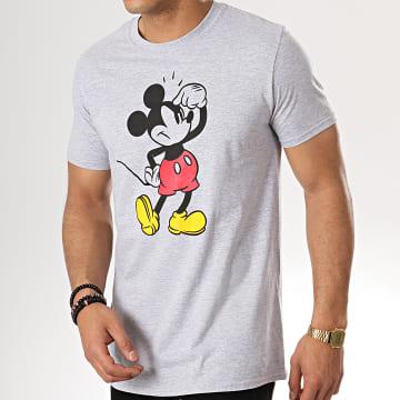 Tee Shirt Annoying Face Gris Chiné