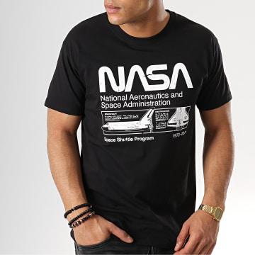 Tee Shirt Space Shuttle Program Noir