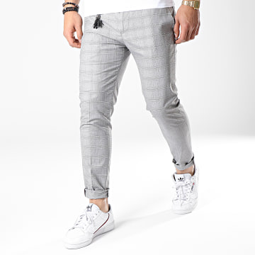 Ikao - Pantalon Carreaux F560 Gris