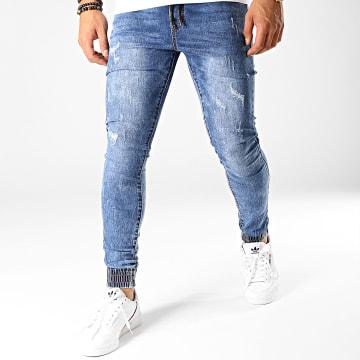 LBO - Jogger Pant Skinny Jeans Avec Dechirures LC20180426-1D Denim Bleu Medium