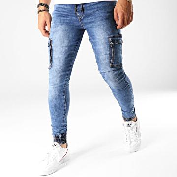 Jogger Pant Jeans Cargo LC20180426-1P Denim Bleu Medium