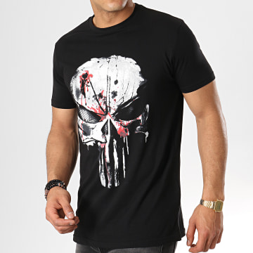 Marvel - Tee Shirt Bloody Skull Noir