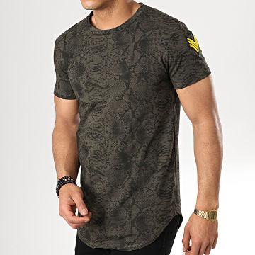 Tee Shirt Oversize T5216 Vert Kaki Serpent