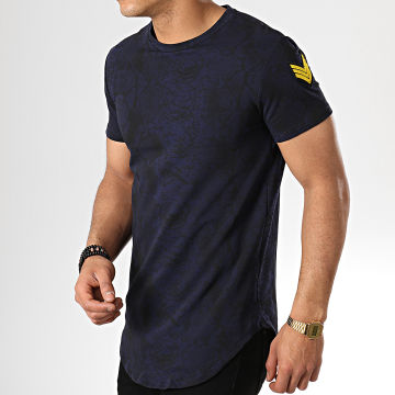 Tee Shirt Oversize T5216 Bleu Marine Serpent