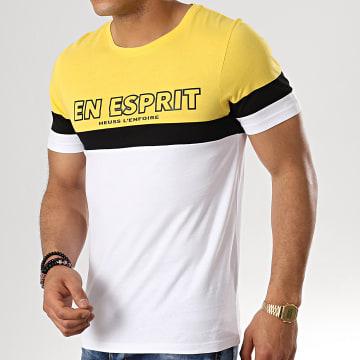 Heuss L'Enfoiré - Tee Shirt Tape Tricolore Noir Blanc Jaune
