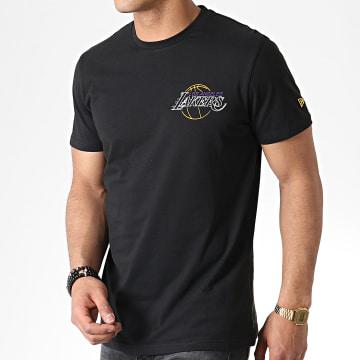 Tee Shirt Neon Light Los Angeles Lakers 11935239 Noir