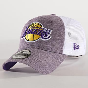 Casquette Trucker Summer League 940 Los Angeles Lakers 11945625 Violet Chiné Blanc