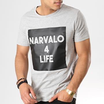 Tee Shirt Narvalo 4 Life Gris Chiné
