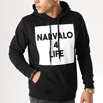 Sweat Capuche Narvalo 4 Life Noir