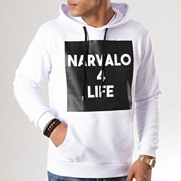 Sweat Capuche Narvalo 4 Life Blanc