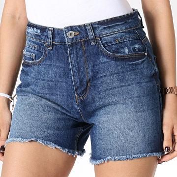 Short Jean Femme Taille Haute Ketty Bleu Denim