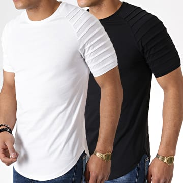 Lot de 2 Tee Shirts Oversize 694 Noir Et Blanc