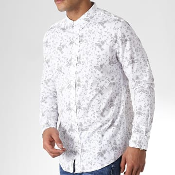 American People - Chemise Manches Longues Suede Blanc Floral