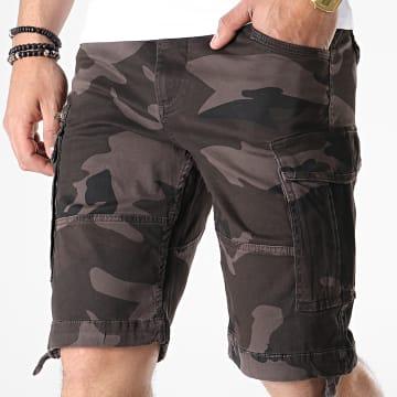 Short Cargo Chop Marron Camouflage