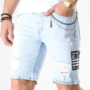 Short Jean Slim 13659 Bleu Wash