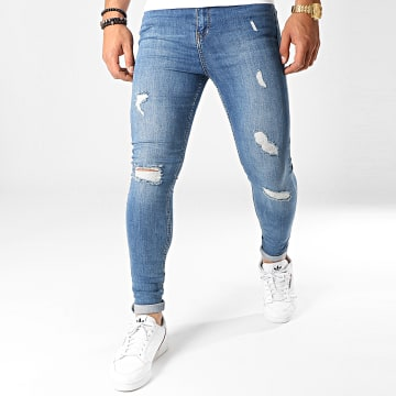Jean Super Skinny Fit Déchiré 788 SS-10C Denim Bleu