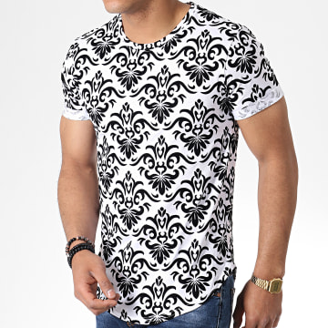 Tee Shirt Oversize 7241 Blanc Noir