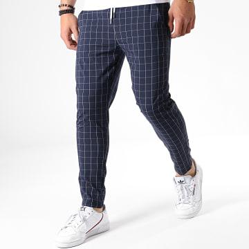 Pantalon A Carreaux 91496 Bleu Marine