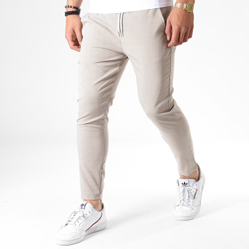 Pantalon A Carreaux 91496 Beige