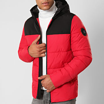 Final Club - Doudoune Premium Big Puffa Rouge Noir