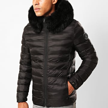 Final Club - Doudoune Fourrure Premium Light Puffa Noir
