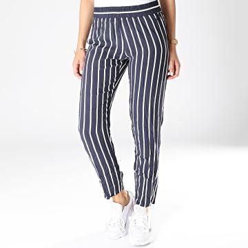 Pantalon Femme Star Bleu Marine Blanc