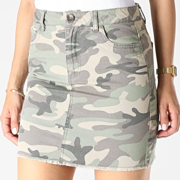 Jupe Femme Rhonda Vert Kaki Camouflage