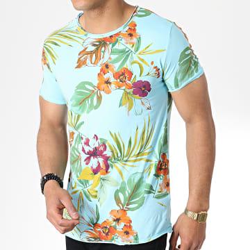 MTX - Tee Shirt TM0169 Bleu Clair Floral