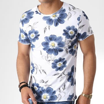 Tee Shirt TM0177 Blanc Floral
