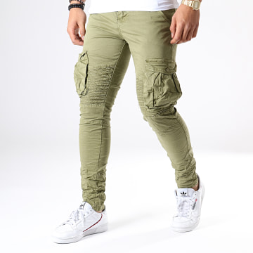Pantalon Cargo J1802 Vert Kaki