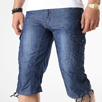 Short Cargo S122 Bleu Denim