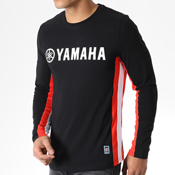 Yamaha - Tee Shirt Manches Longues Long Noir Rouge Blanc